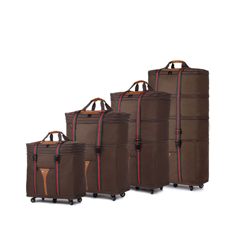SHENGMING 2017 Fabric Trolley Travel Luggage Bags