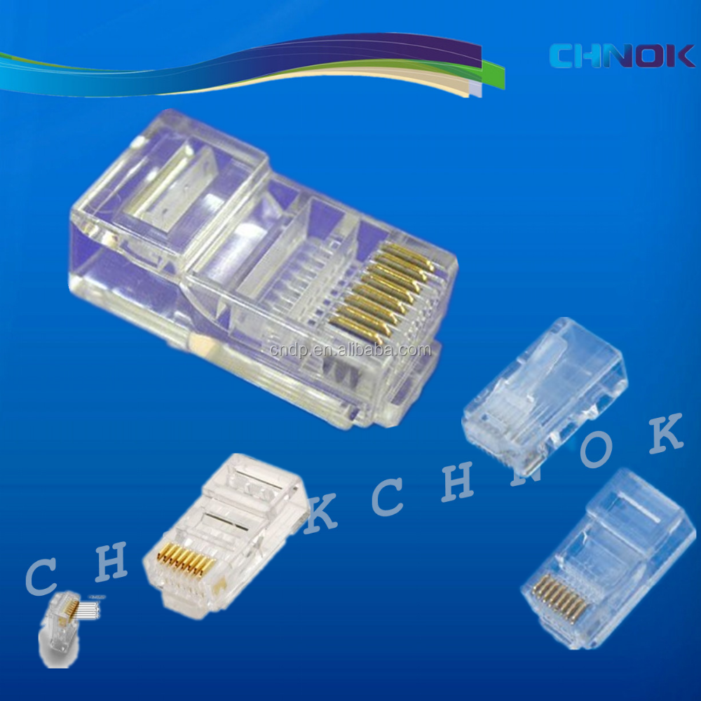 Factory Supply Cat5e/Cat6 RJ45 Male Connector Plug 8P8C