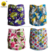 Naughty baby boy girl cloth reusable diapers Eco friendly one size pocket cloth nappy manufacturer reusable print diaper