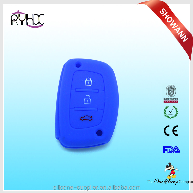 Hyundai silicone rubber car key waterproof car key case for hyundai