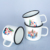 8CM Personality Customized Logo Heat transfer coating enamel mug