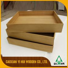 Cheapest China Factory Wooden Unique Serving Trays