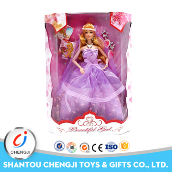 Newest high quality funny gift plastic dress up doll for girl