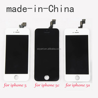 made in China white balck touch screen digitizer panel replacement screen Lcd display assembly for iphone 5 5G 5S 5C 6