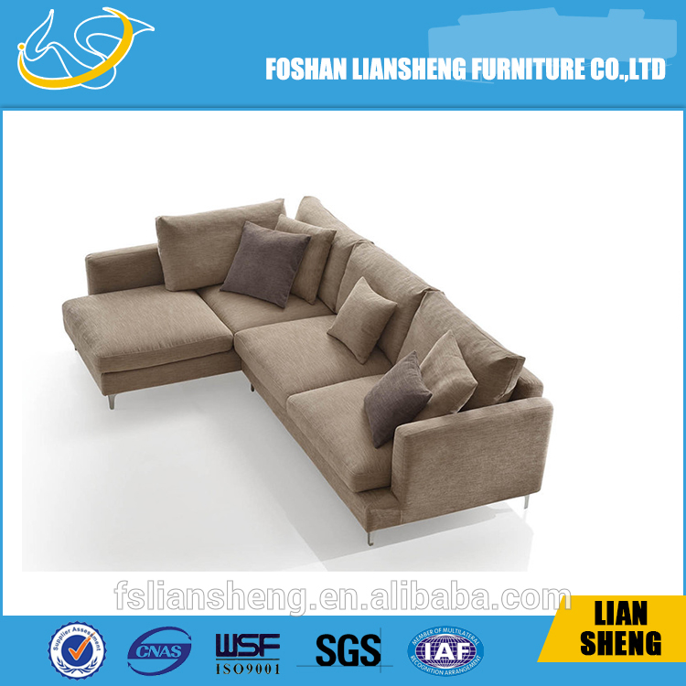High Quality Modern Home Furniture L Shaped Fabric Sofa Corner
