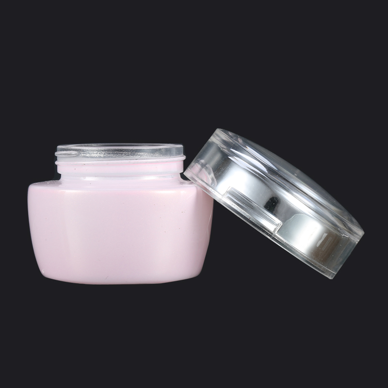 Silver Spray Pink Glass Cosmetic Packaging Bottle And Containers