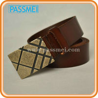 Men high quality copper buckle leather belt