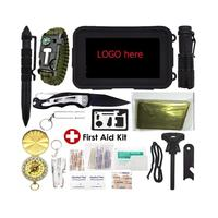 First Aid Kit Outdoor,Emergency Survival Gear Kit with First Aid Kit,SOS Survival Kit