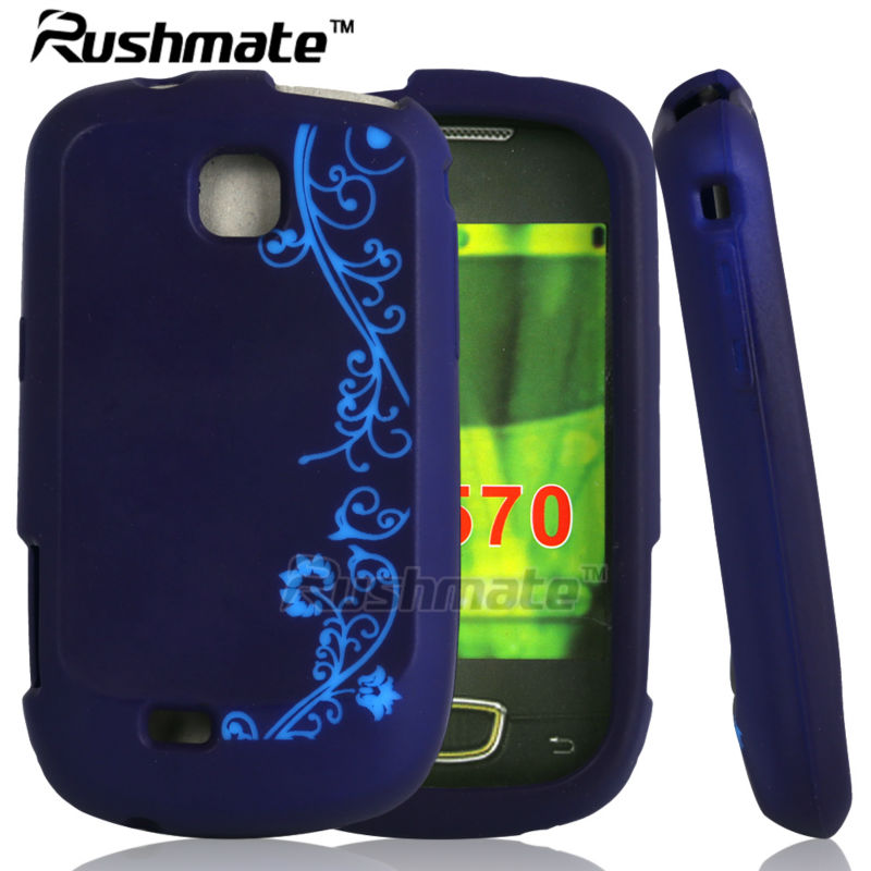 For Samsung Galaxy Mini S5570 Dark Purple Laser Cut Case Silicone Covers