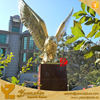 Garden Brass life size golden eagle statue for home decoration