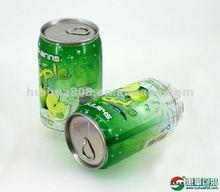 cola shape clear plastic beverage cans