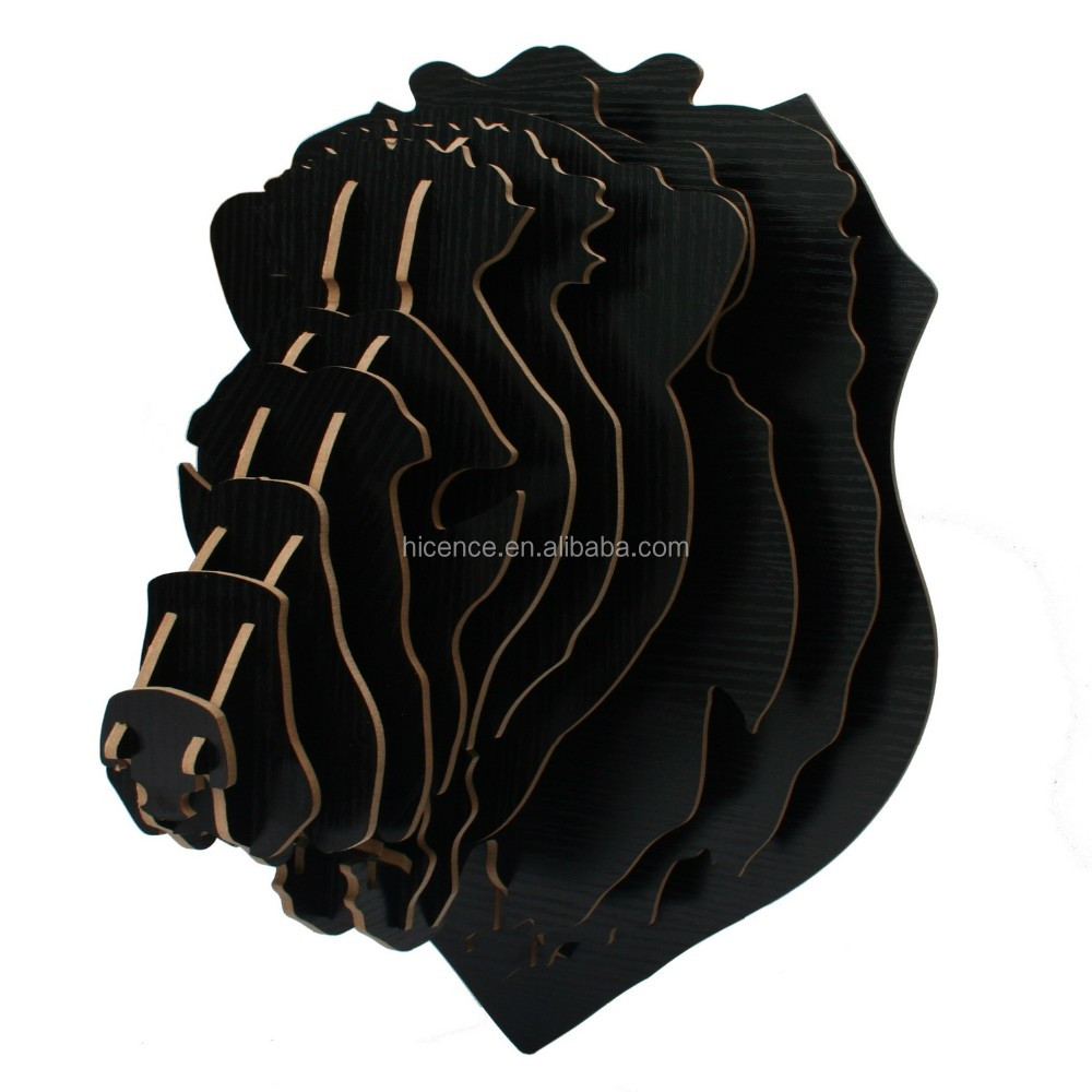 High quality and Creative Hanging wood animal head lion head avatar