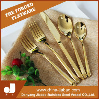gold plated stainless steel bulk flatware with customize logo