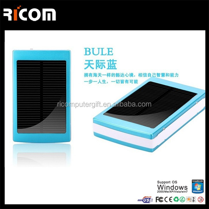 solar mobile power bank charger,10000mah solar power bank for phone,solar portable power bank-PB207--Shenzhen Ricom