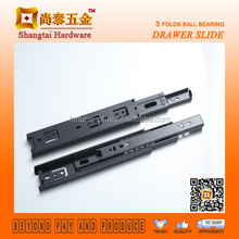 CT4007 40MM Jieyang Black Zinc Auto Self Closing Drawer Slide For Furniture Hardware