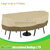 Veranda Round Bistro Patio Large Table & Chairs Set Cover