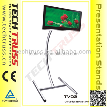 Aluiminium curved tv display stand,TV truss stand easy to assemble and move!