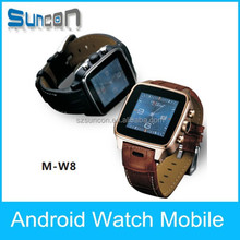 High quality smart watch stainless steel mobile watch phone