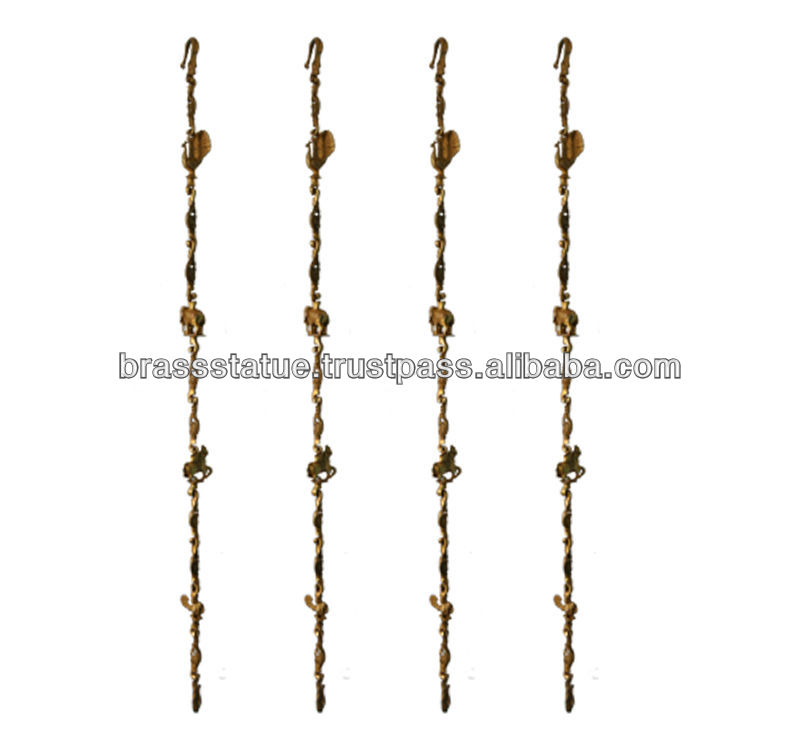 Brass swing chain set with statue solid SS hook links