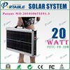 20W newest design multifunction portable solar suitcase with 150W output for home/hiking/camping/traveling