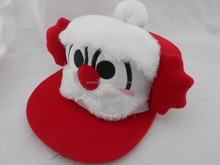 China Supplier Sales Promotion Gift Flannel Fabric Embroidery Design Cap And Hat With Ball Or Dot