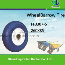 Solid PU foam wheel, PU solid wheel barrow tire 4.00-8 for sale