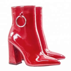 2018 new winter red women fashion shoes ladies ankle boots