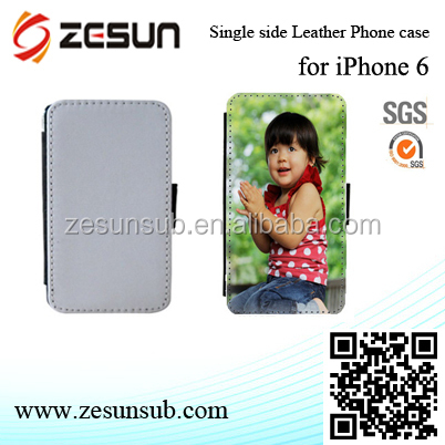 good quality sublimation single sider printalbe two mobile phones leather case
