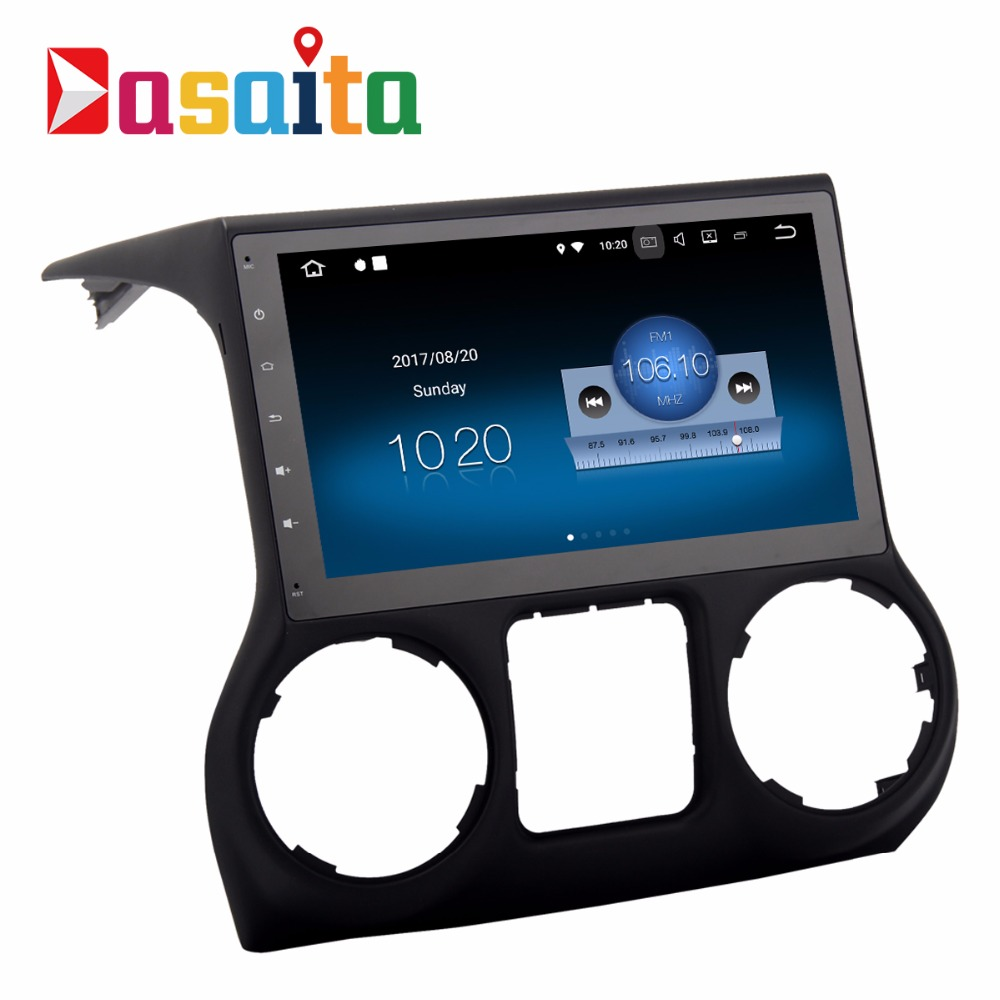 "Dasaita 10.2"" android 7.1 auto aduio stereo radio car dvd player GPS Navigation system for Jeep wrangler"