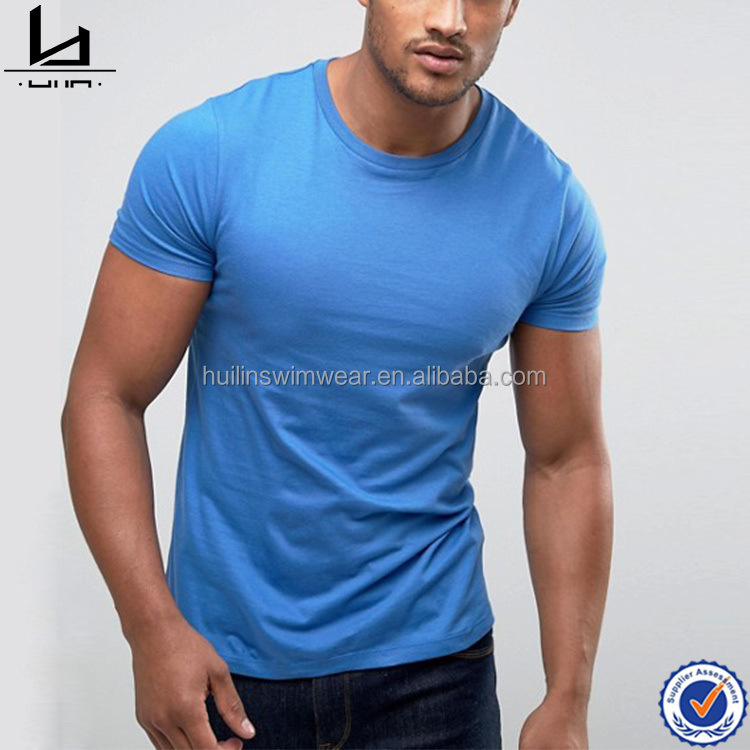Clothing factory custom dri fit mens sport gym t shirt crew neck muscle fit exercise t shirt