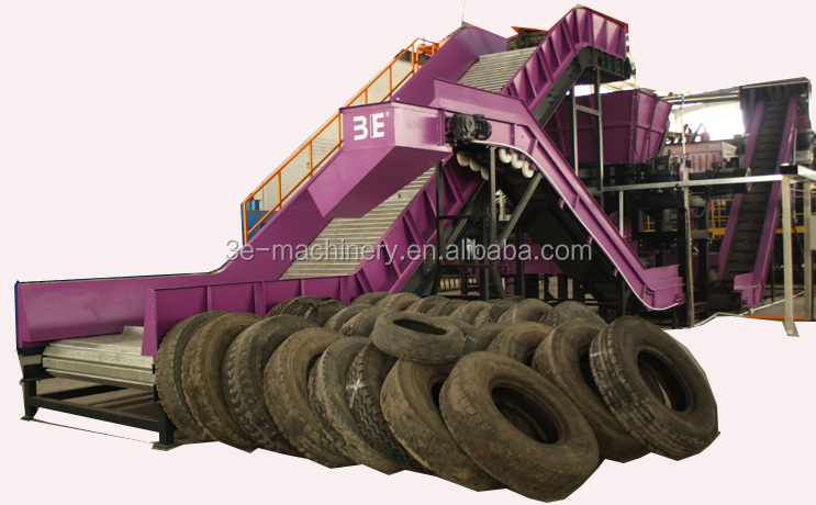 Good Quality of 3E's Used tire recycling machine/Waste tire recycling machine/Tyre recycling equipment, get CE Marking