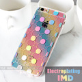 New Arrival Transparent Case for Apple iPhone 6 7 plus Electroplating IMD cases for S7 edge