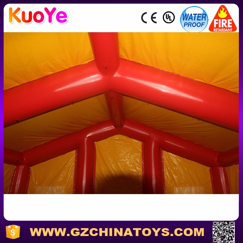 Factory price have windows can install lamp inflatable tent for camping