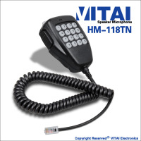 VITAI HM-118TN High Performence Wireless Equipment Speaker Microphone For IC-2200H IC-2720H IC-2725E IC-V8000 Model