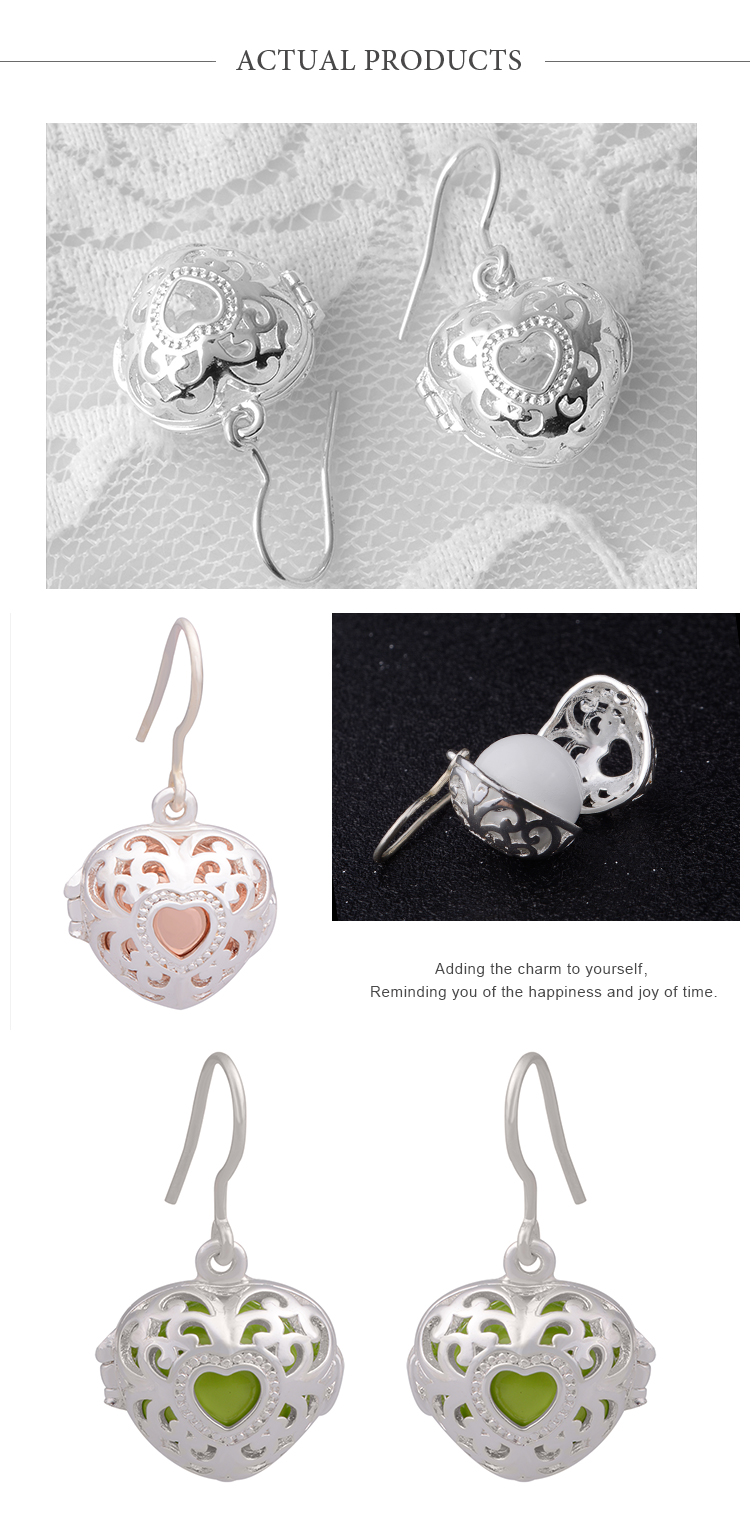 Wholesale fashion women accessories 925 silver plated brass jewelry earrings