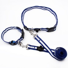 Factory Custom Adjustable Safety Led Hand Free Dog Leash with Collar