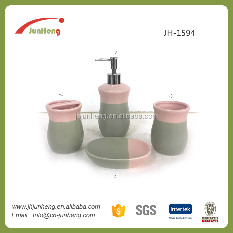 China manufacturer modern ceramic bathroom accessory gift set with ISO and CE Certificate