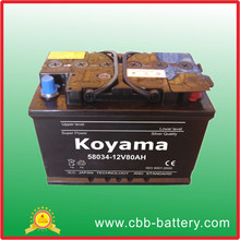2017 Cheapest product 12v80Ah car battery buy from china online