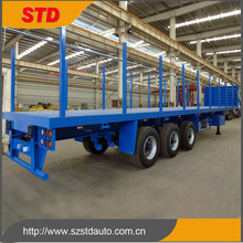 Saudi Arabia cargo side board flatbed trailer with front wall