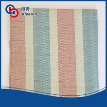 Custom flexible recycled plastic woven fabric stripped tarpaulin