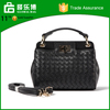 Wholesale Woven Pu Leather Hand Bag Women Fashion