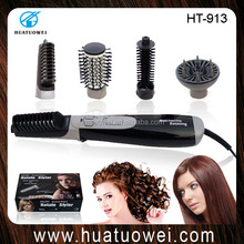 Professional women electric hair dryer rotating hair brush
