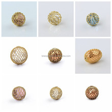 Trendy Hot Sale Nickel Free Lead Free Fashion Different Size Chunky Brass Mesh Beads