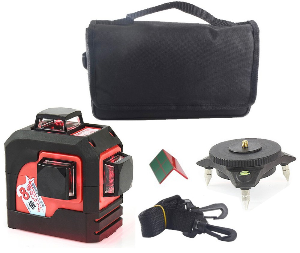 12 Lines 3D Laser Level Self-Leveling 360 Horizontal And Vertical Cross Super Powerful Red Laser Beam Line
