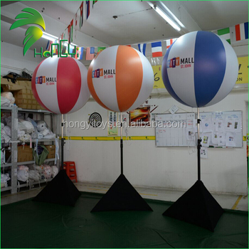 Fashion Popular Inflatable Tripus Balloon For Promotion / Customized Event Night LED Light Stand Ball