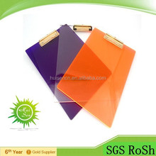 Transparent Plastic Clipboard with OEM/ODM
