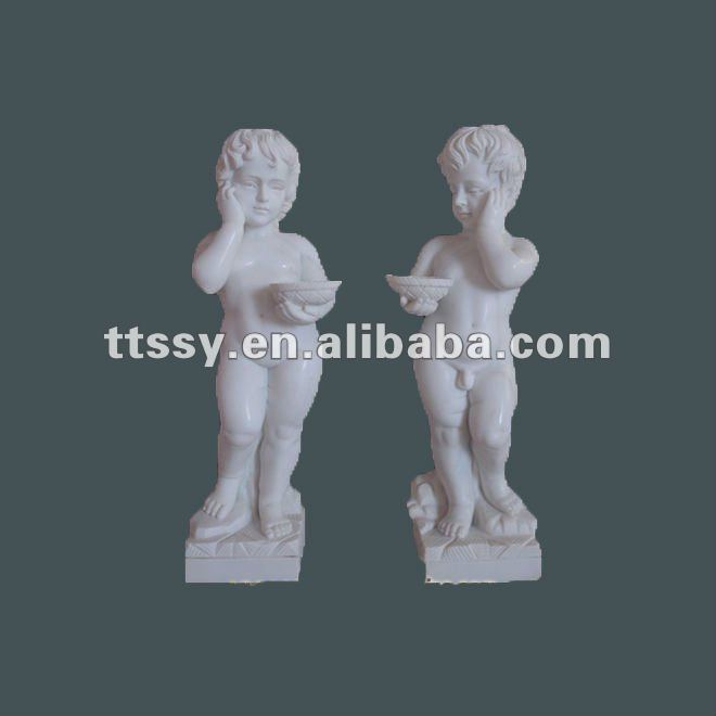 Garden stone decorative children statues