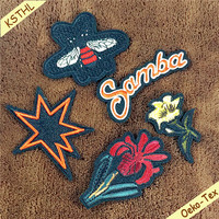 Parches bordados hand embroidery designs patches for halloween garment