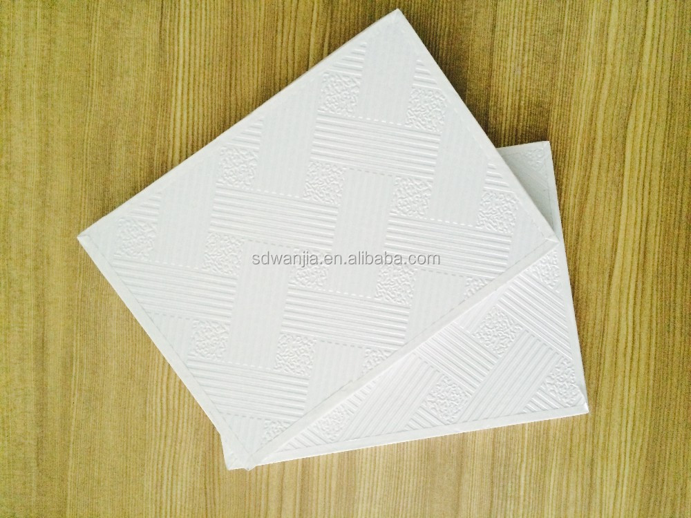 Smooth White PVC Laminated Gypsum Ceiling Board/Tiles with Ceiling Tee Grids