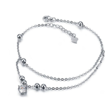 New Style Bead Wholesale 925 Sterling Silver Anklet